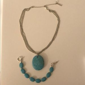Kenneth Cole turquoise jewelry set